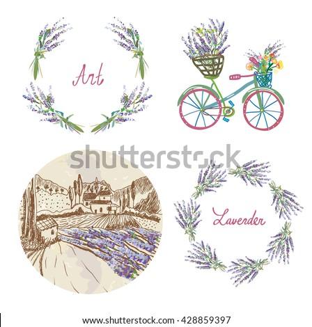 lavender floral set for the