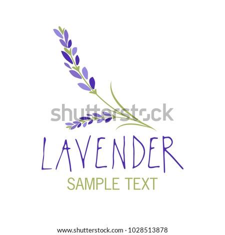 lavender flower logo design
