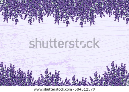 lavender on a wooden floor