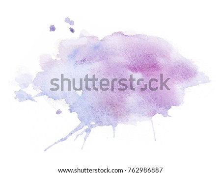 lavender watercolor splash