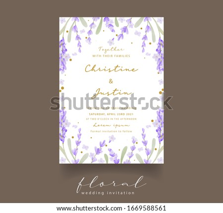 lavender watercolor wedding