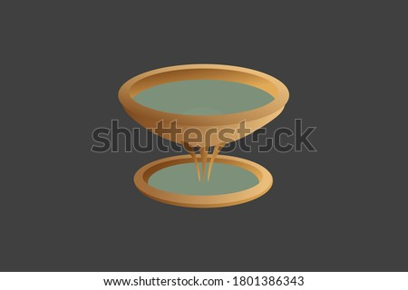 Laver. Old Testament sanctuary furniture religious imagery vector illustration, book of Exodus. This was where priests washed their hands and feet. Symbol of cleansing. Stockfoto ©