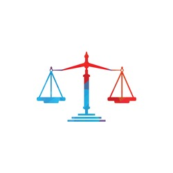 Law and Attorney Logo Design. Law firm and office vector logo design.