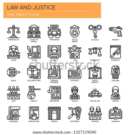 law and justice   thin line and