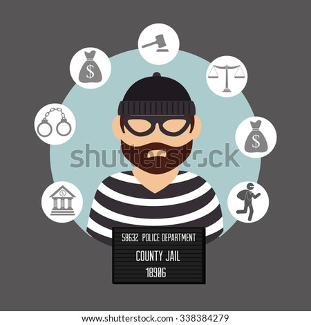 Law and legal justice graphic design, vector illustration eps10 - Shutterstock ID 338384279