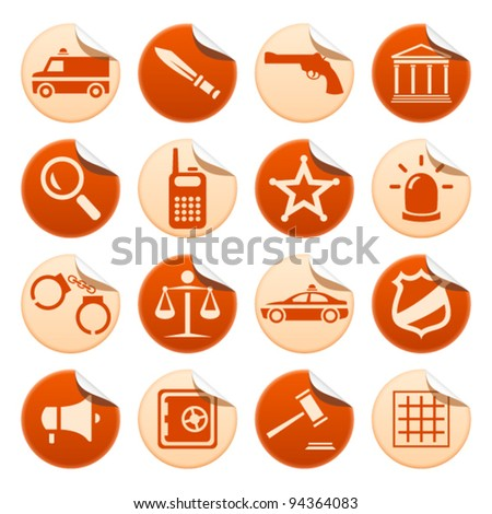 Law and order stickers