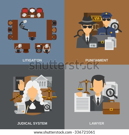 law design concept set with