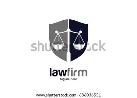 Law Firm Pillar Logo Template Vector - Download Free Vector