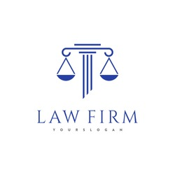 law firm logo, attorney at law logo, simple logo, logo for business, icon and vector