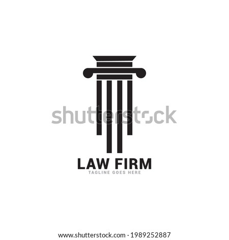 law firm logo icon vector