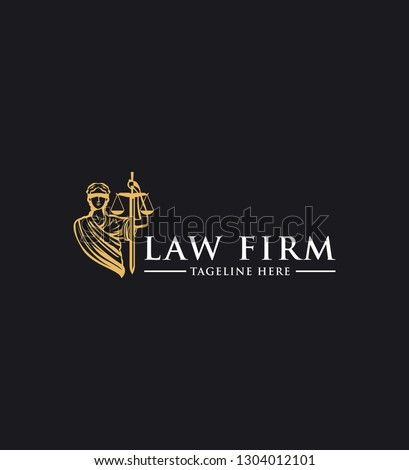 Law firm vector logo design template
