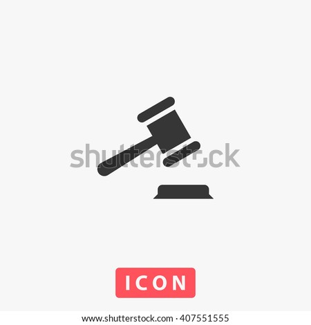 law Icon Vector. Simple flat symbol. Illustration pictogram
