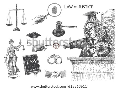law  justice and police set....