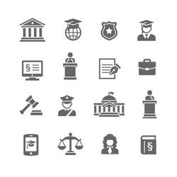Law & Justice icon set