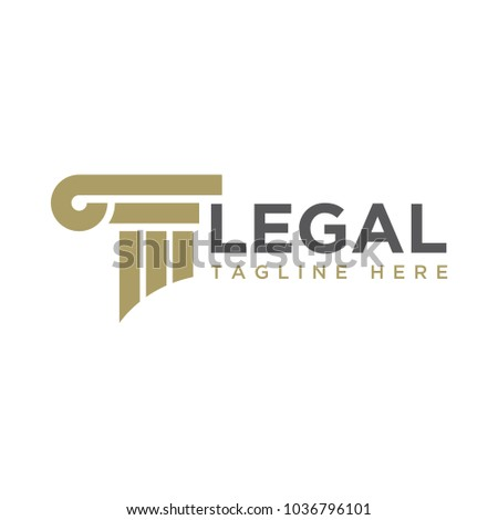 law/legal logo design template ストックフォト ©