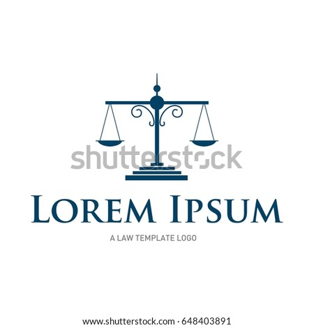 Law office logo. The judge, Law firm logo template, lawyer labels. full vector logo.