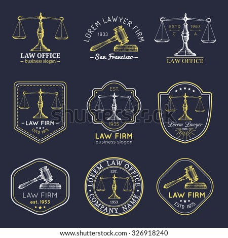 law office logos set with...