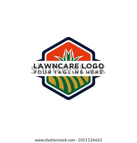 lawn care logo vector