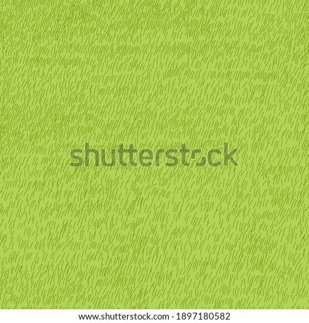Lawn grass seamless in summer,Vector cartoon nature green field texture, Cute meadow in spring,Pattern summer grass on ground,Endless seasonal for four seasons,Natural abstract background