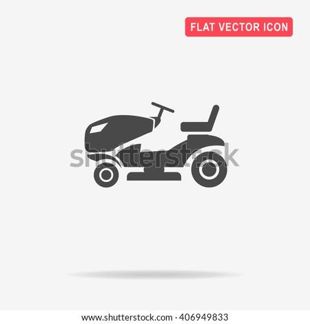 lawn tractor icon vector