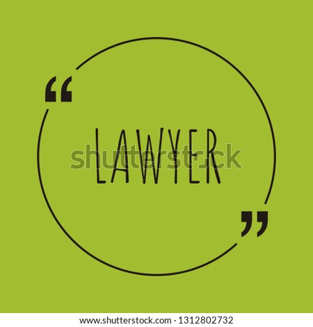 lawyer word concept