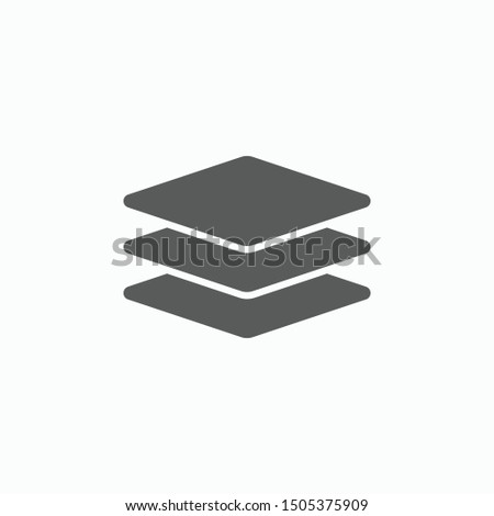 layer icon, layer stacking vector illustration