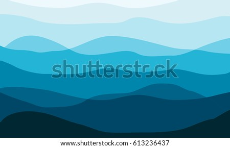 layered mountains landscape in
