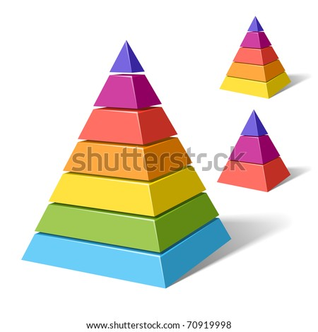 Layered pyramids. Vector. - stock vector