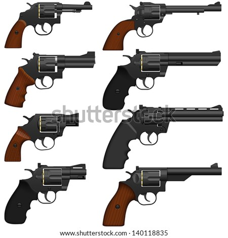 Stock Photo Layered vector illustration of collected Revolver.
