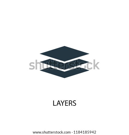 layers icon. Simple element illustration. layers concept symbol design. Can be used for web and mobile.