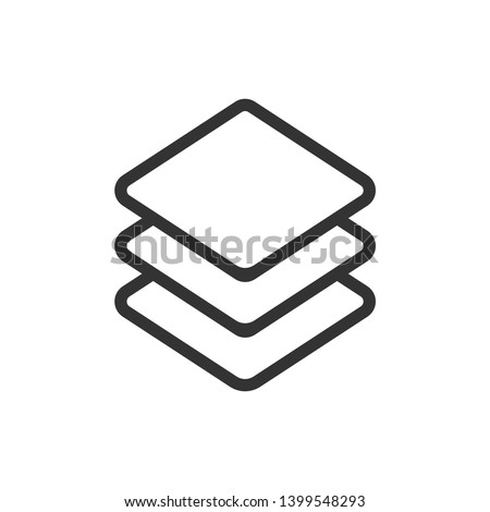 Layers icon, Three levels stacked on top of each other Stock fotó ©