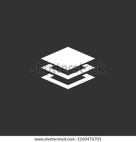 layers icon vector. layers sign on black background. layers icon for web and app