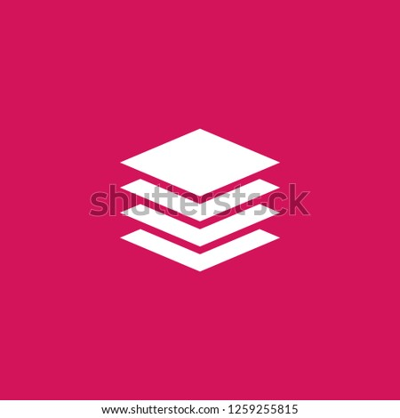 layers icon vector. layers sign on pink background. layers icon for web and app