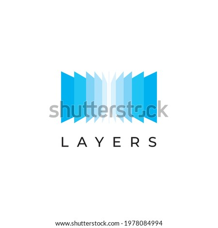 Layers logo design illustration vector template