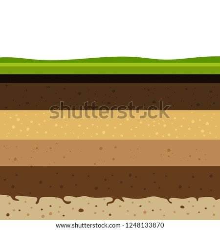 layers of grass with