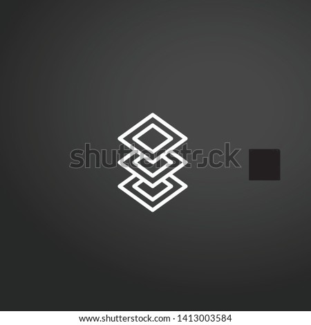 Layers vector icon. Layers concept stroke symbol design. Thin graphic elements vector illustration, outline pattern for your web site design, logo, UI. EPS 10.
