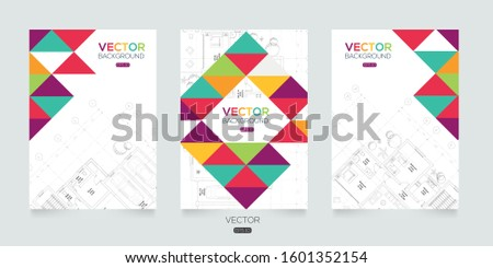 Layout brochure architectural plan , Architectural background , architectural plan vector