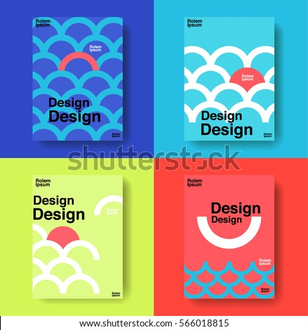 layout design template, cover book, colorful, cute, vector