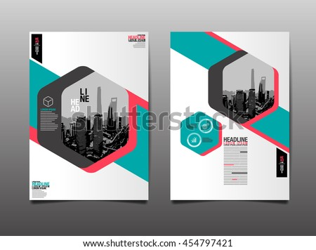 Layout Design Template, Cover Book, Geographic Abstact Background