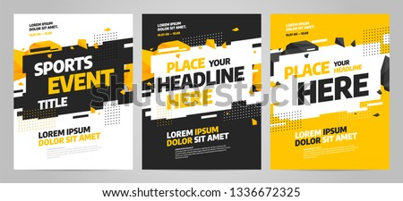 Layout design template for sport event, tournament or competition. Sports background.