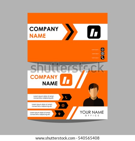layout design template id card and business card #540565408