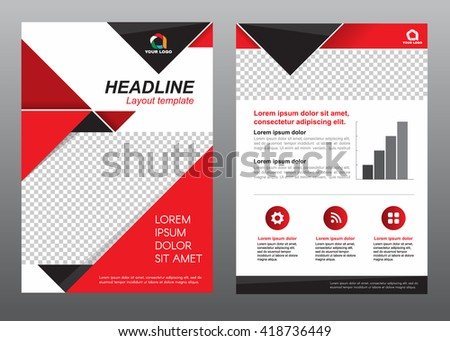 red black abstract company brochure template design download free