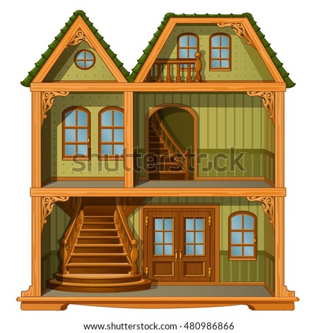 layout of two story house with