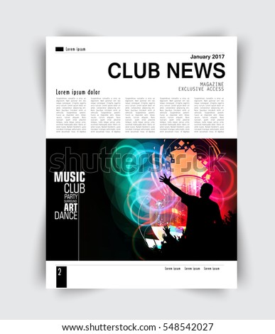 layout page  music magazine