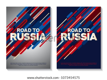 Layout Template Design For Road To Russia.