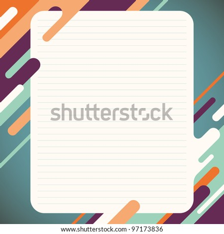 Layout with abstraction. Vector illustration.