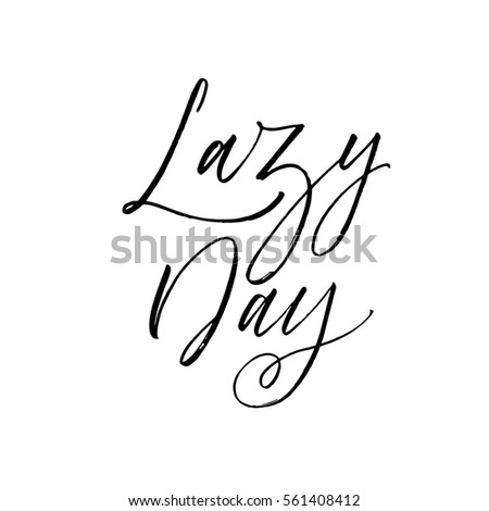 lazy day postcard relax phrase