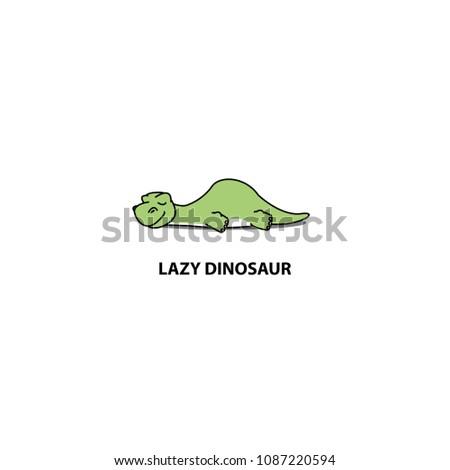lazy dinosaur  cute apatosaurus
