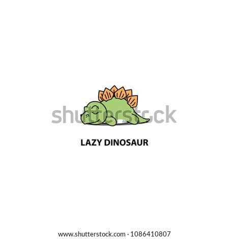 lazy dinosaur  cute stegosaurus