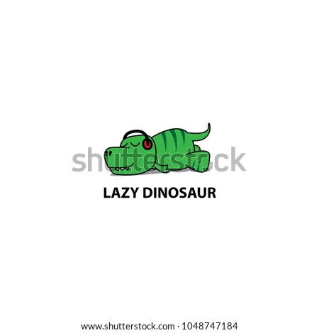 lazy dinosaur icon  funny t rex